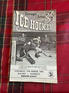 Harringay Arena Ice Hockey Programme 17/03/1956