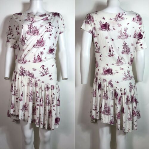 Rare Vtg Vivienne Westwood White Toile Dress M