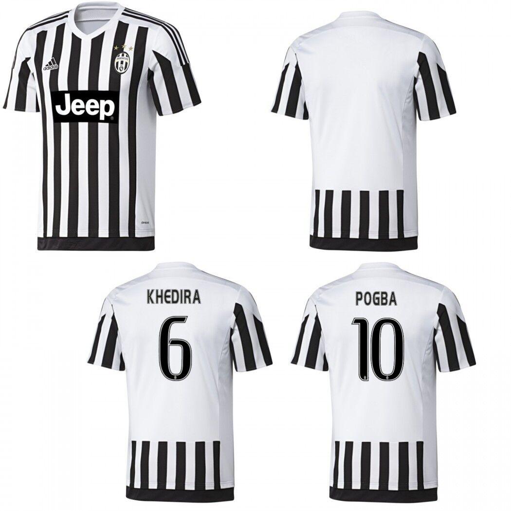 Adidas Juventus Turin Home Heimtrikot 2015 2016 white black KHEDIRA POGBA