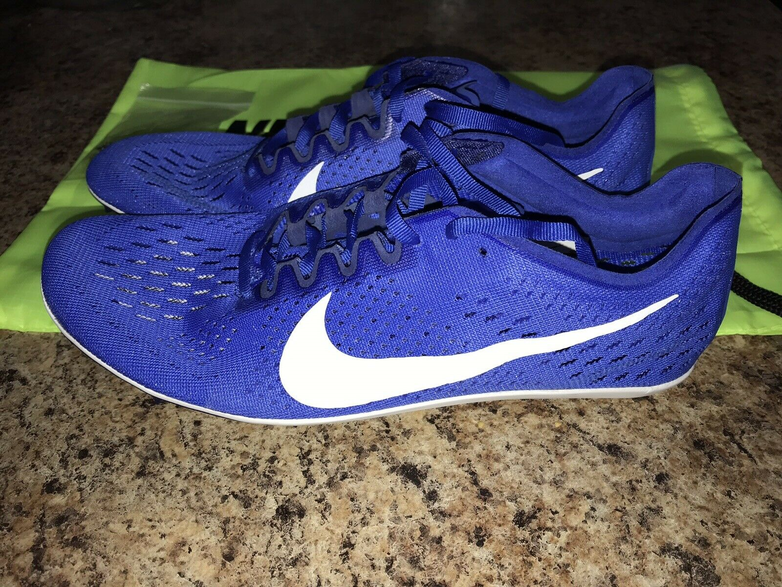 Nike Zoom Victory 3 Track Field Running Spike shoes Size 11 bluee 835997-411
