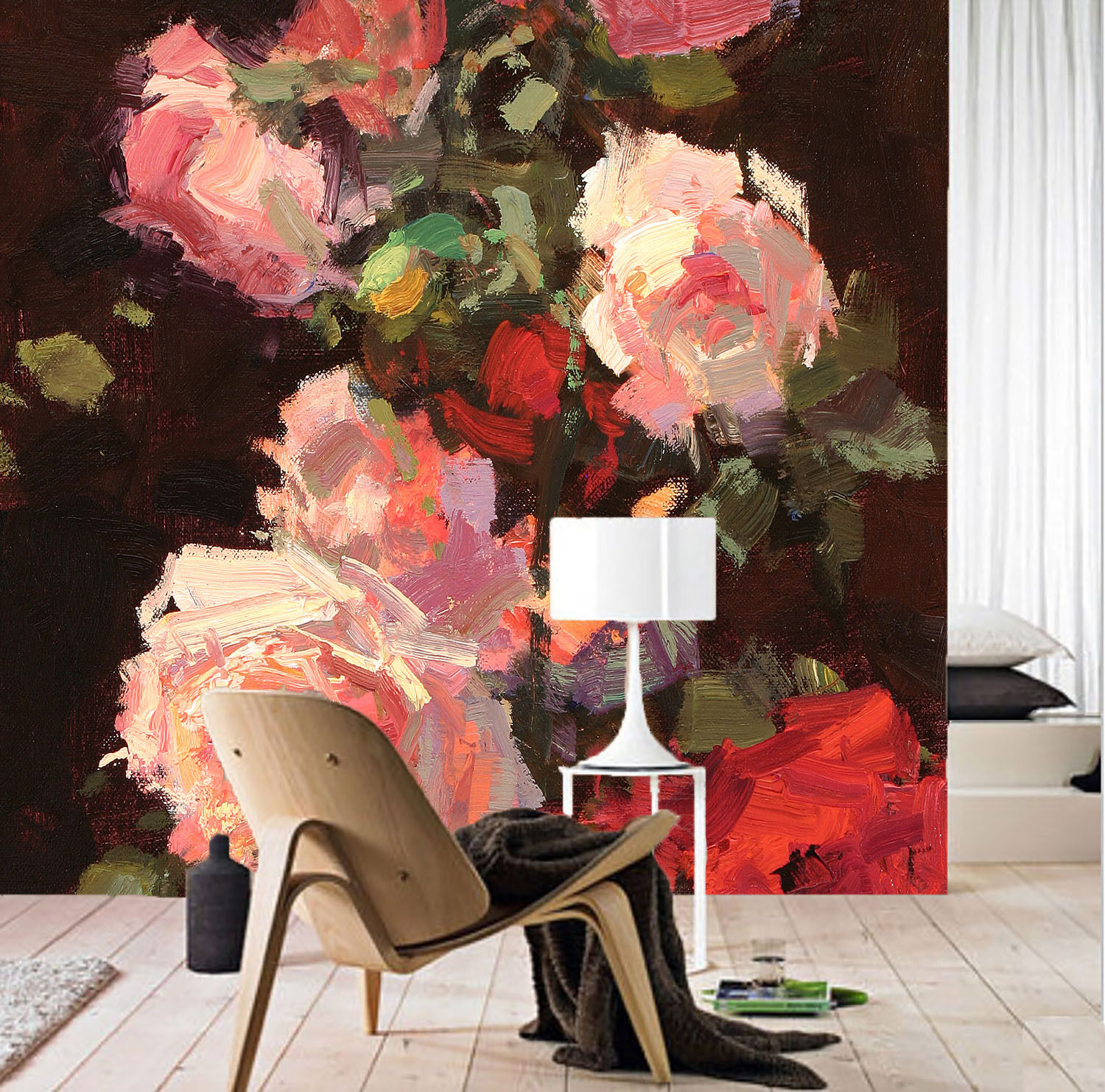 3D Flowers Painted 991 Paper Wall Print Wall Decal Wall Deco Indoor Murals