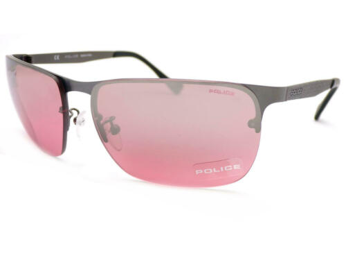DEFENSE 2 Satin Gunmetal Sunglasses// Rose Silver Mirror S8957 627X POLICE