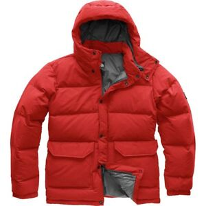 896681957 Details about The North Face Men's DOWN SIERRA 2.0 550-Fill Insulated  Jacket Caldera Red M Med