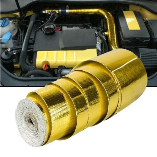 Racing Self Adhesive Reflect Gold Heat Wrap Car Heat Shield Tape Roll 2/'/'x15ft