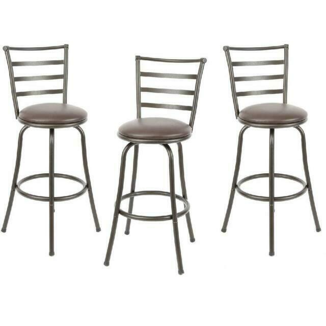 Mainstay Gbs592 A3fl Adjustable Height Swivel Barstool 3 Pieces Brown For Sale Online Ebay