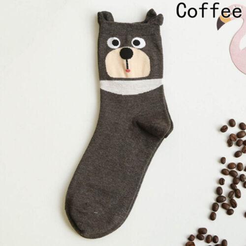 Fashion Summer Lady Striped Women Animal Socks Cartoon Socks Cat Dog Pattern