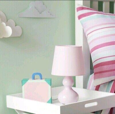 Light Pink Shade Ceramic Table Lamp