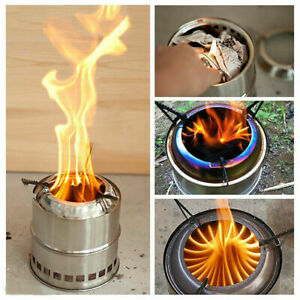 US Outdoor Wood Stove Backpacking Portable Survival Wood Burning Camping Stove