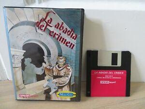 MSX-Opera-Soft-La-Abadi-a-del-Crimen-Espanol-Mister-Chip-disk-muy-raro-unico