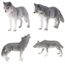Realistic Grey Walking Wolf Model Action Figure Kids Science Learning Toy