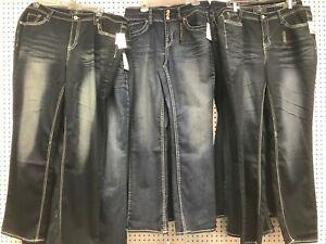 Women-039-s-PLUS-Size-Jeans-Classic-Dark-Blue-Denim-Medium-Weight-Size-16-26W