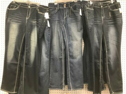 Women/'s PLUS Size Jeans Classic Dark Blue Denim Medium Weight Size 16-26W