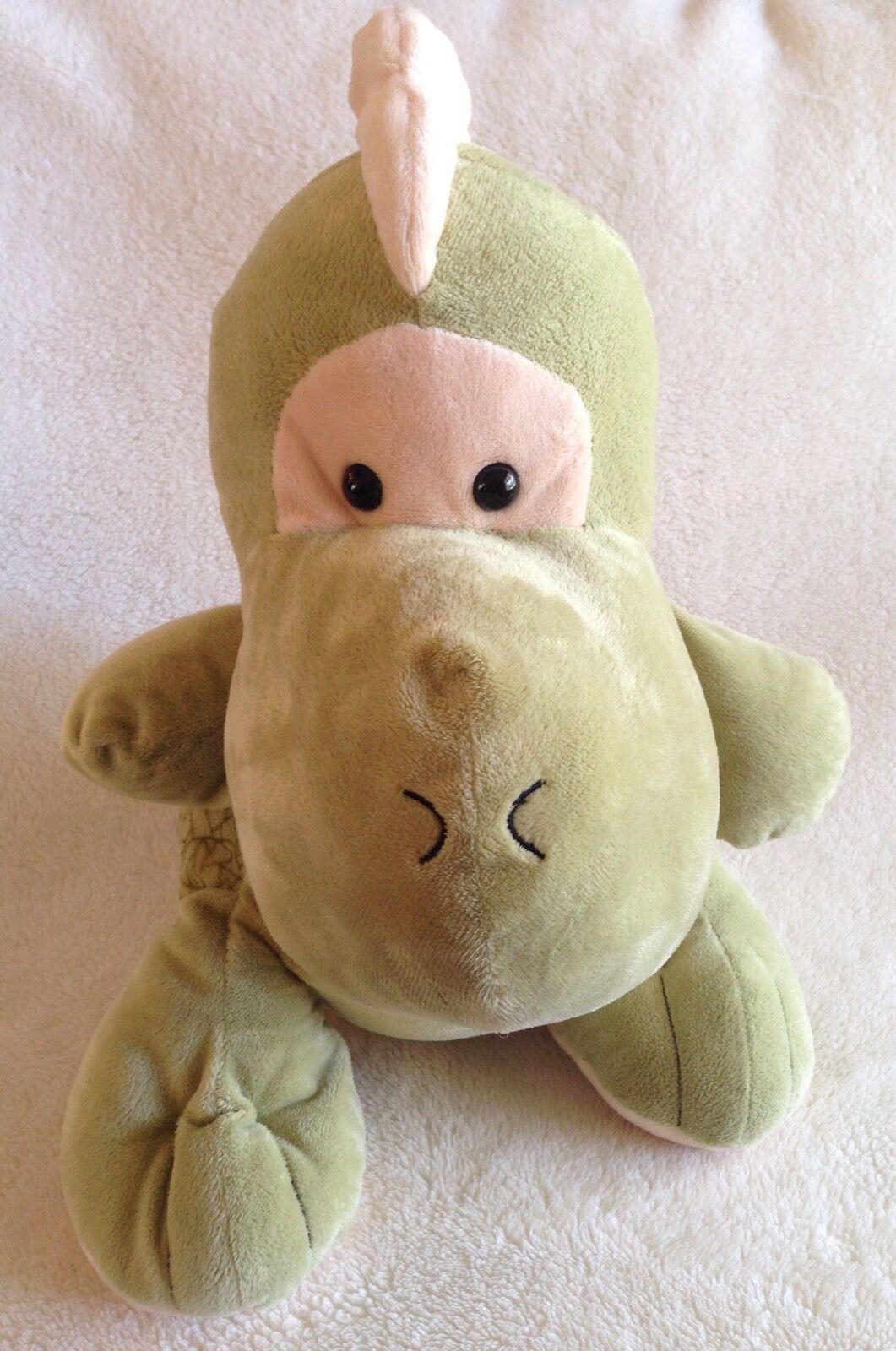 Toys R Us Plush Dinosaur Large verde Baby Bean Borsa Soft Stuffed Animal 19  2010