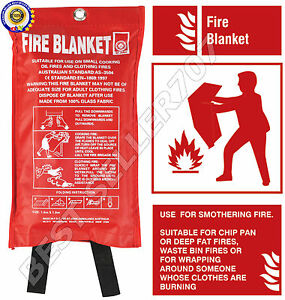 NEW-QUICK-RELEASE-HOME-amp-OFFICE-SAFETY-LARGE-FIRE-BLANKET-IN-CASE-1M-x-1M