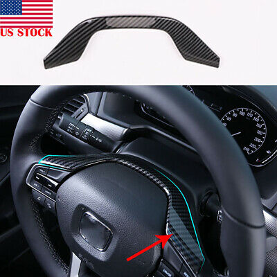 For Honda Accord 2018 Carbon fiber ABS Interior look Steering Wheel Trim 1pcs