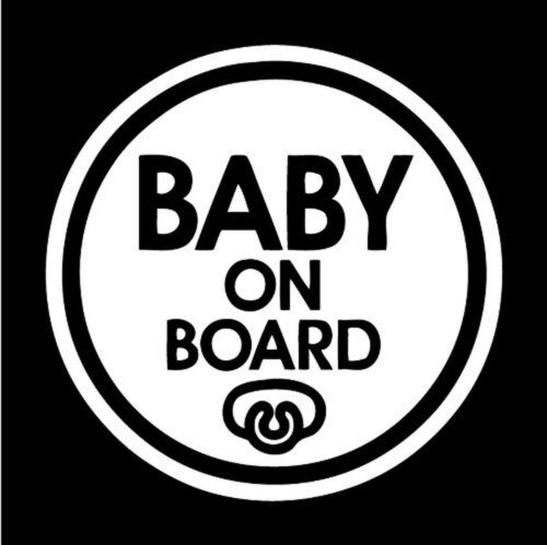 Set of 2 Pacifier Baby on Board Sticker Decal Safety Caution Sign Car Window