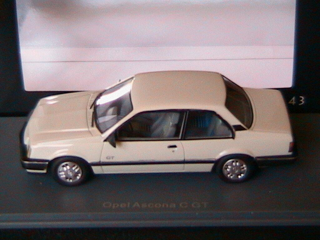 OPEL ASCONA C 1.6 SR GT WHITE NEO 45970 1 43 WEISS white 1 43 RESINE RESIN