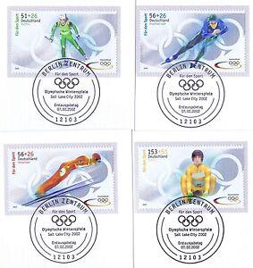 BRD-2002-Sporthilfemarken-Nr-2237-2240-mit-Berliner-Ersttags-Sonderstempel-1A