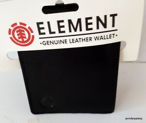 ELEMENT-WALLET-mens-NEW-STYLE-GREENFIELD-FLINT-BLACK-Real-Leather-SURF-LOGO-Tri