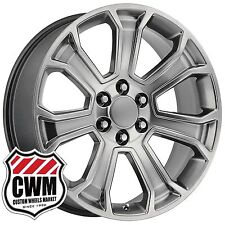"20 inch OE Performance 166H GMC Sierra Wheels Hyper Silver Rims 6x5.50"" fit GMC"