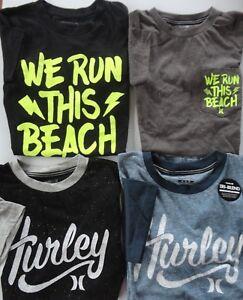 a5687fda6 NWT Boys Hurley BLACK, BLUE or GREY Short sleeve t-shirts Boys Sz S ...