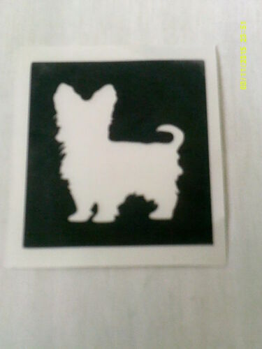 Yorkshire Terrier dog stencils for etching on glass  etch craft hobby Yorkie
