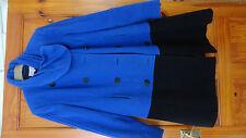 Marks and Spencer M&S Per Una Wool Coat Jacket UK 14 ( 12 ) blue black