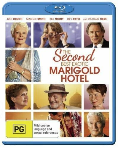 1 of 1 - The Second Best Marigold Hotel (Blu-ray, 2015) +Priority Post