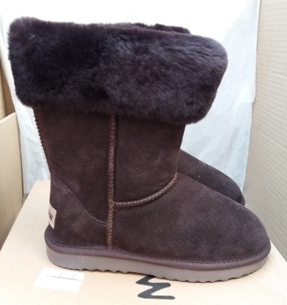 Snow Paw 5826COFL Suede & Sheepskin Winter Collar Stiefel -Coffee -Größe -Größe -Coffee UK 5 EU 38 73aea1