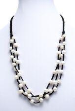 "Genuine Freshwater Pearl 28/"" Long 10mm Bead Suede Tassel Necklace"