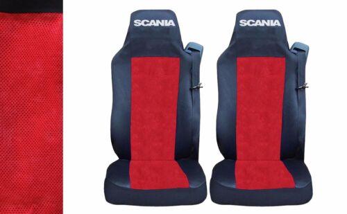 2 x Sitzbezüge Schonbezüge Bezüge Schwarz Rot Lux LKW SCANIA G P R