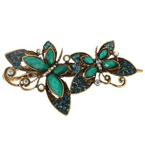 Lovely-Vintage-Jewelry-Crystal-Butterfly-bowknot-Hairpins-Hair-stick-for-Z4I3