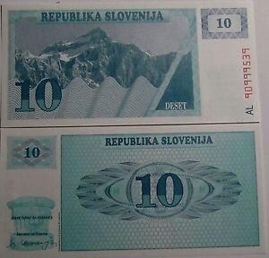 BILLETE-034-ESLOVENIA-034-10-TOLARJEV-ANO-1990-UNC-PLANCHA