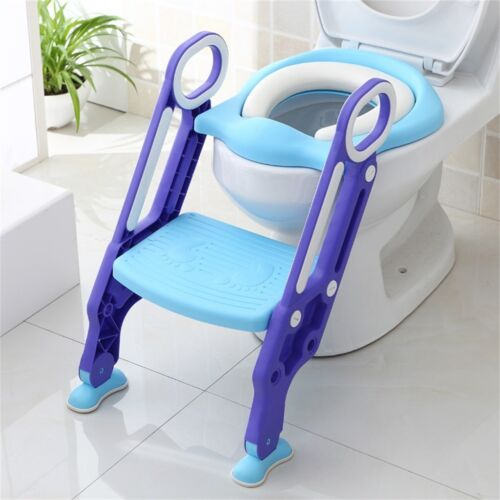 Toilettentrainer Lerntöpchen Toilettensitz Töpfchen faltbar Leiter Baby Kind DE