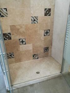 Piatto Doccia Filo Pavimento 120x90 In Marmo Bianco Di Orosei Fatto A Mano Ebay