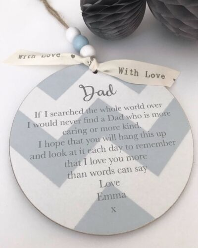Personalised Sign Plaque Gift Keepsake Dad//Daddy Birthday Fathers Day P186a//b