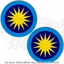 """MALAYSIA Royal Malaysian AirForce TUDM Roundel Vinyl Decals Stickers 3""""(75mm) x2"""