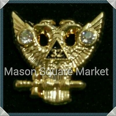 Freemason 32nd Degree Wings Up Lapel Pin