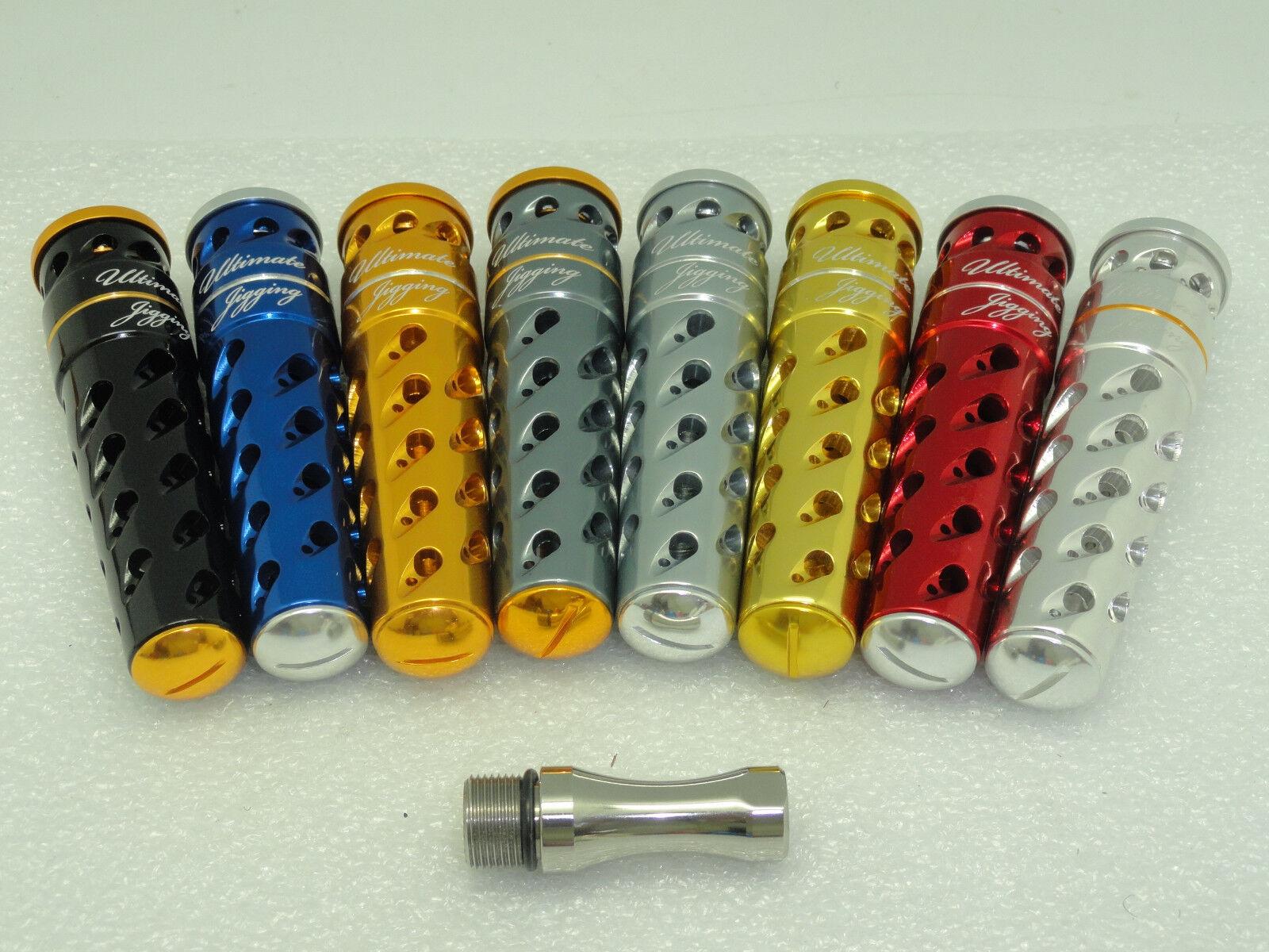 UJ UJ UJ T092A T-BAR handle knob direct fit Avet SX MX JX LX HX MC Raptor reel BLK/SVR 95e4d7