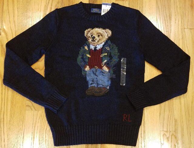 994a2db84e3 Damenmode Polo Ralph Lauren Preppy Polo Teddy Bear Linen Cotton Sweater NWT