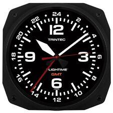 """TRINTEC FLIGHTIME GMT 12 & 24 HOUR DUAL TIME UTC MILITARY  Instrument Clock 10"""""""