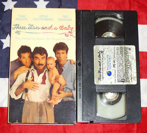 Three-Men-and-a-Baby-VHS-1987-Tom-Selleck-Steve-Guttenberg-Ted-Danson