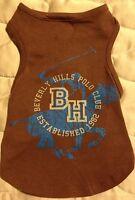 Beverly Hills Polo Club Dog Shirt - Xs 6-8 - Brown & Blue -