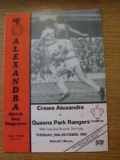25/10/1983 Crewe Alexandra v Queens Park Rangers [Football League Cup] (No appar