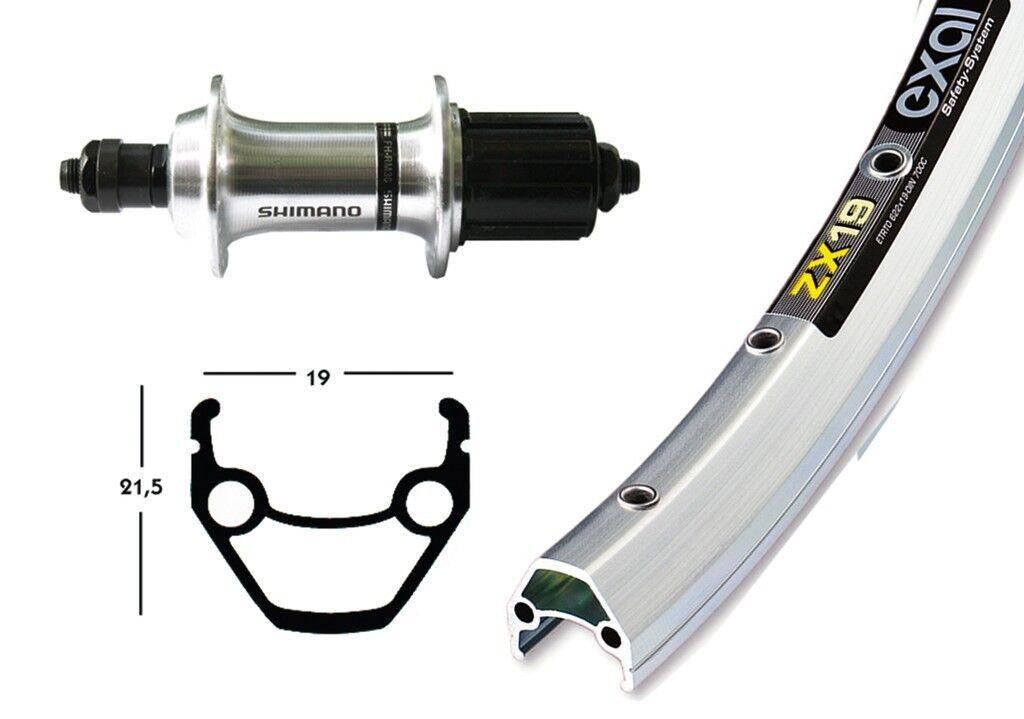 Bike-Parts 28″ Hinterrad Exal ZX 19 + Shimano Tourney TX500 8-10-fach (QR)