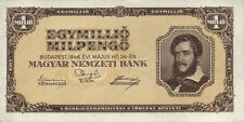 Ungarn / Hungary 1 Millionen Milpengö 1946 Pick 128 (1)