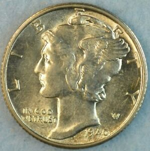 UNCIRCULATED-1940-D-Silver-Mercury-Dime-90-Silver-Fast-Shipping-000444