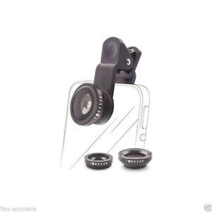 3in1 SL-110 Macro Ampio Angle Fisheye Obiettivo Lente per Smartphone & Tablet