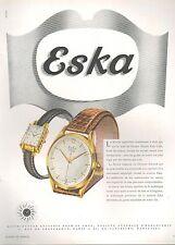 ▬► PUBLICITE ADVERTISING AD MONTRE WATCH DOXA ESKA 1950