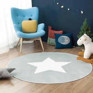 Weicher Teppich Für Kinderzimmer.Details Zu Stern Fußmatte Rund Teppich Kinderzimmer Weich Plüsch Anti Rutsch Kinderteppich